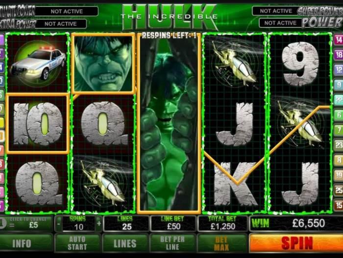 Играть в автомат The Incredible Hulk